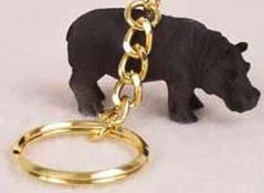 Hippopotamus Key Chain