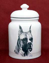 Boxer cookie jar for dog lovers