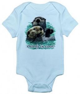 Otterly In Love Baby Onesie