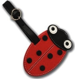 ladybug luggage tag