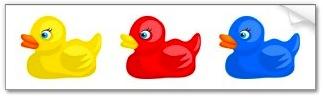 rubber ducks sticker for the car