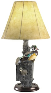 Nesting wood duck lamp