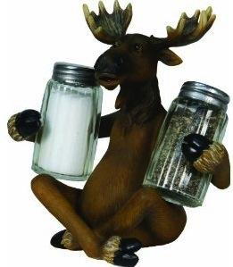 moose salt and pepper shaker set