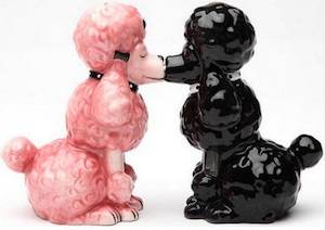 poodles salt & Pepper shaker set