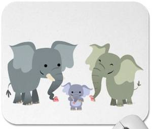 Elephant Family mousepad