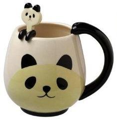 Panda bear mug with panda spoon