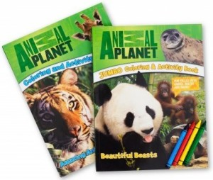 Animal Planet Coloring/Activity Books With Crayons.