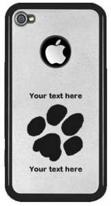 Pawprint Customisable iPhone 4 Case