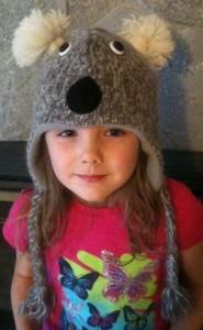 Koala bear Face Wool Hat