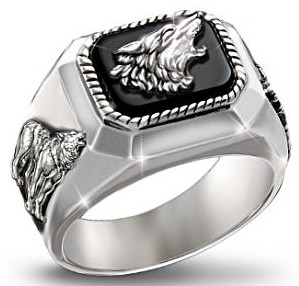 Men's Wolf Art Ring: The Call Of The Wild