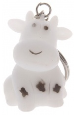 Cow Key Chain with light