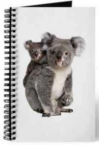 Koala journal with mother and child koala on the front