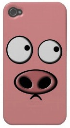 Pink Pig iPhone 4S case