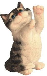cute tabby cat figurine