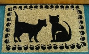 Cats and paws doormat