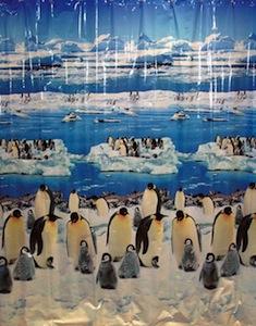 Penguins shower curtain set