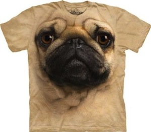 Pug dog face t-shirt