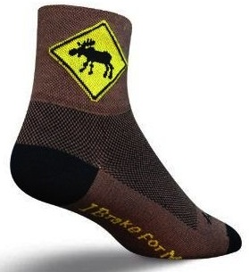 Moose Crossing Socks