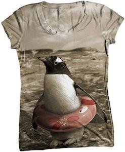 Safe Penguin women's t-shirt
