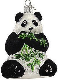 Panda bear christmas ornament