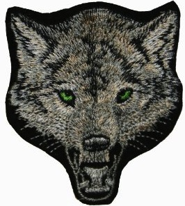 wolf clothing patch