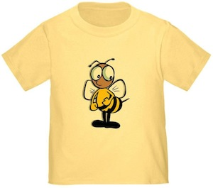 Kids t-shirt with a bee