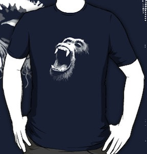 Screaming monkey t-shirt