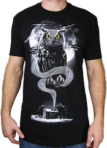 artsy owl t-shirt