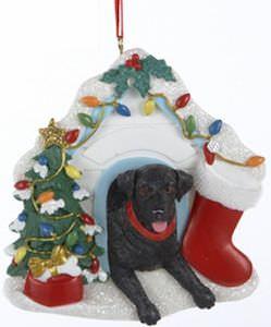 Labrador Doghouse Christmas Ornament