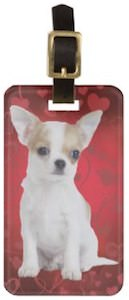 Chihuahua Luggage Tag with a cute dog