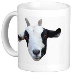 funny goat mug