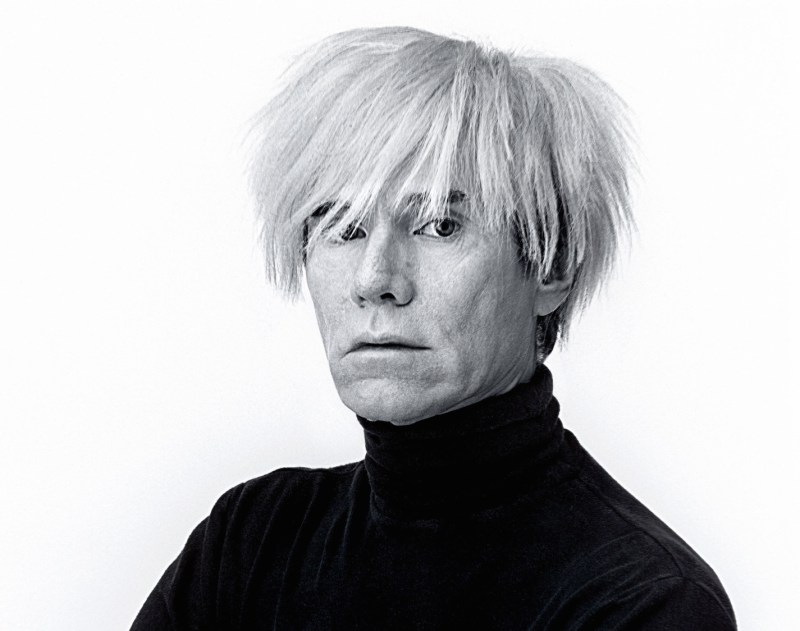 B945H6 Andy Warhol, artist, portrait, himself, white background