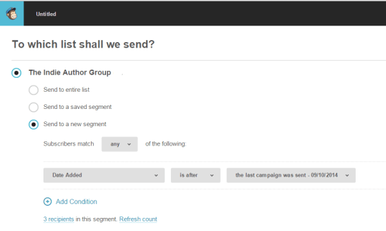How to set up your Mailchimp to send emails to people who have joined since the last email - perfect for welcome emails!