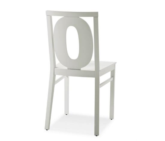 B Serie Stuhl Numbers weiss