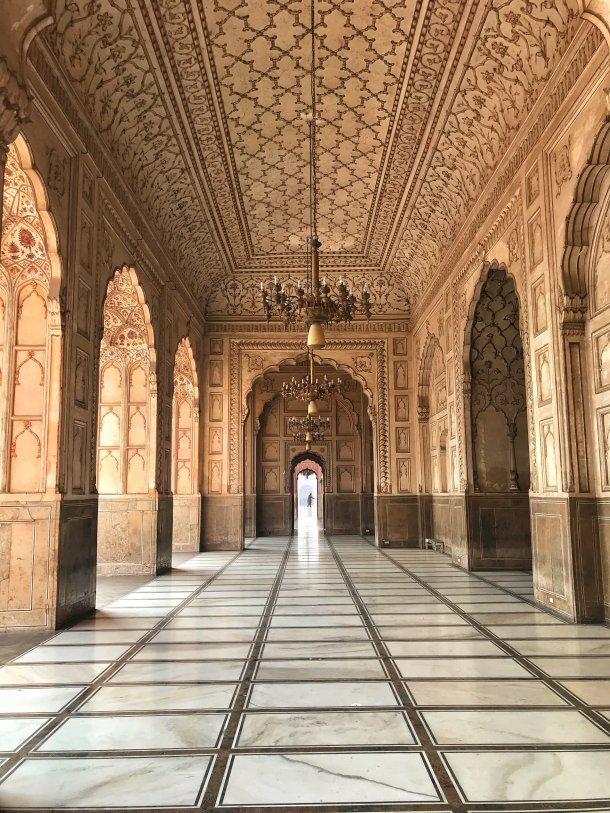 Marble Interior of Badshahi Mosque, Lahore