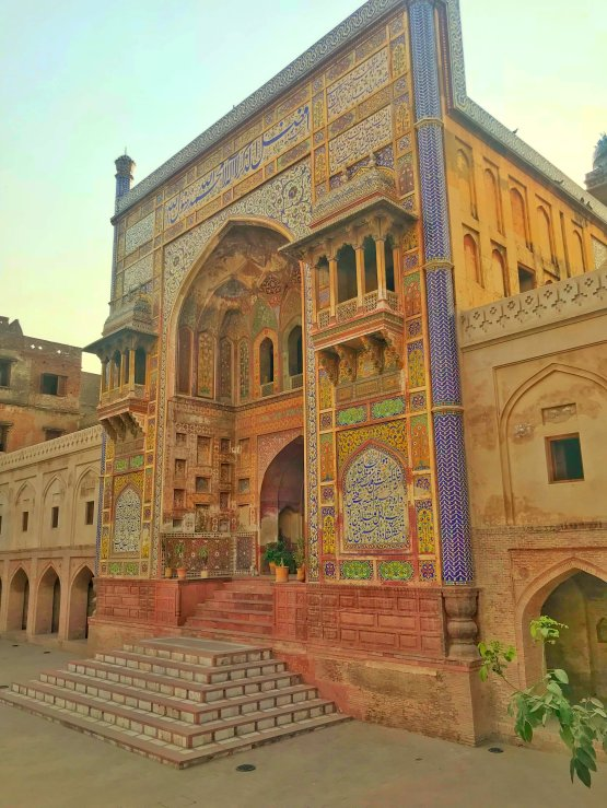 Colourful Wazir Khan Mosque, Lahore