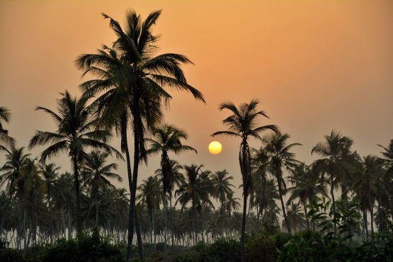 Sunset on Benin's Atlantic coast, Ouidah