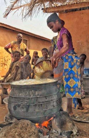 Tofu making, near Abomey, Benin