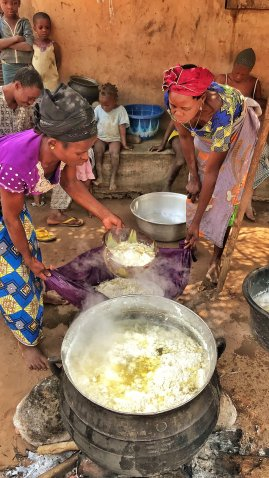 Tofu making, near Abomey, Benin