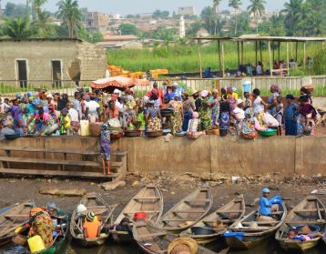 Port for Ganvie, Lake Nokoue, Benin