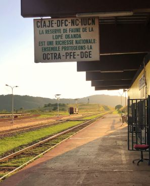 Trans Gabon Railway - Booue Train Station