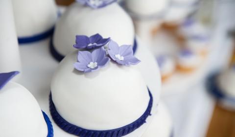 Eenpersoons gebakjes bruiloft