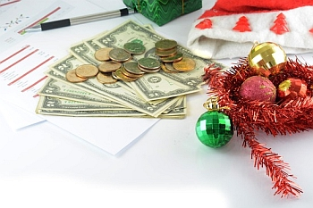 holiday budget with money