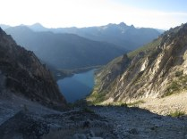 Colchuck Lake from up high - almost at the top of Aasgard Pass. 7:16pm