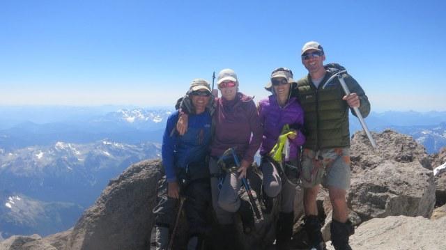 On top of Glacier Peak - North Cascades