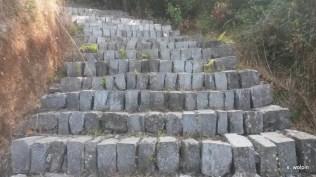 Crazy stonework - so many stairs!