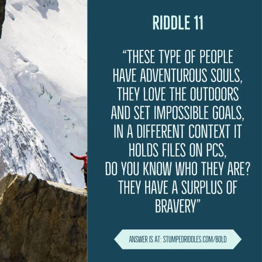Riddle 11 on StumpedRiddles.com