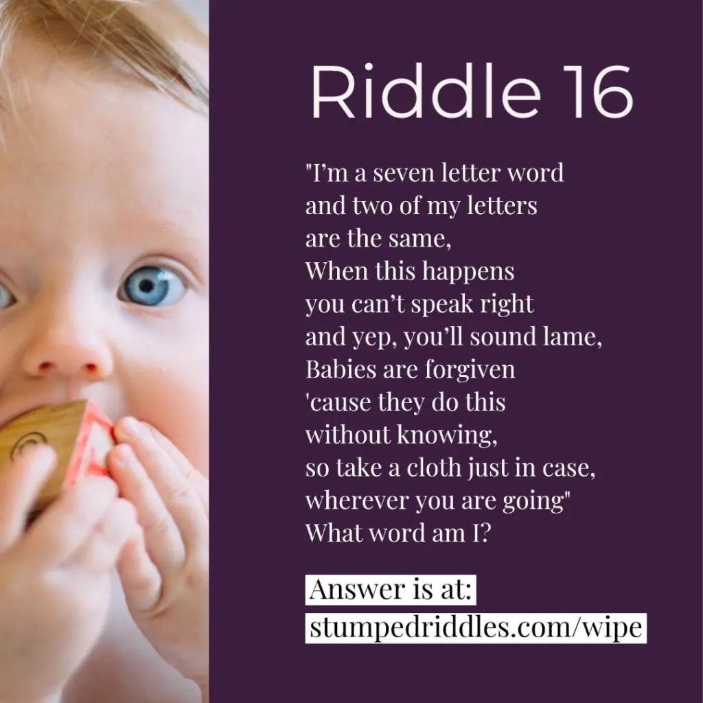Riddle 16 on StumpedRiddles.com