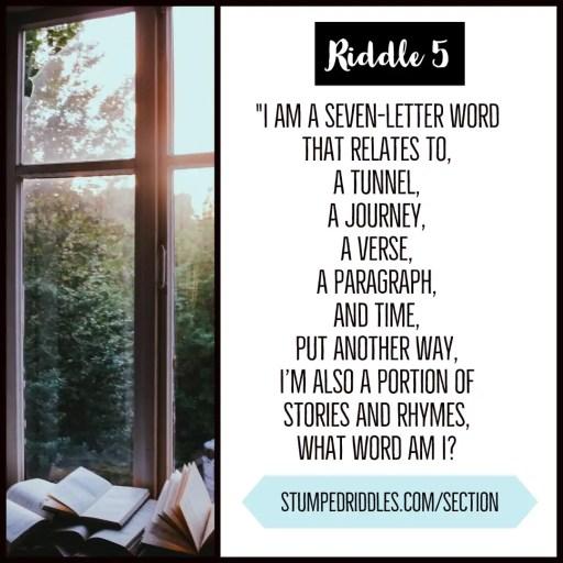Riddle 5 on StumpedRiddles.com