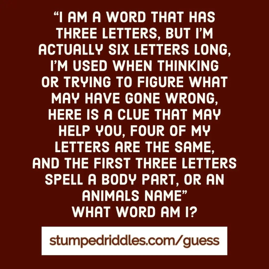 StumpedRiddles #Stumped Guess This One